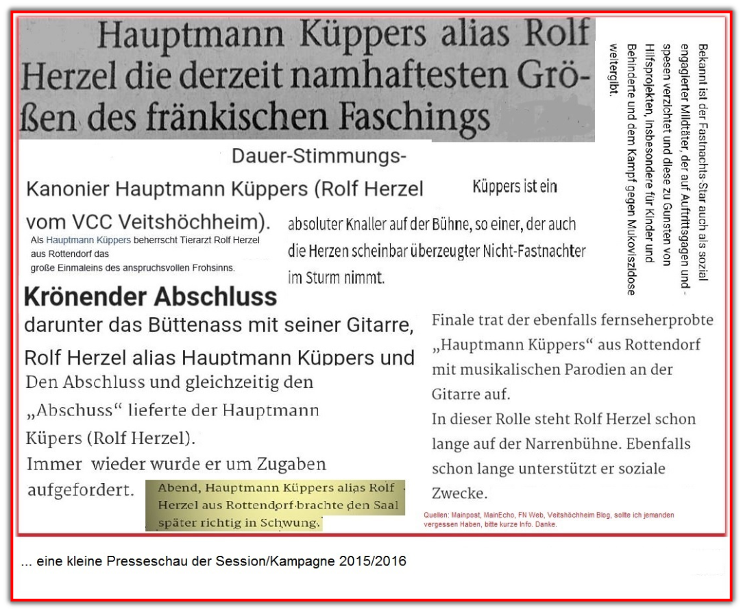 Kleine Presseschau der Session/Kampagne 2015/2016